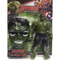Boneco Hulk 30 Cm Emite Som + Mascara Acende A Luz