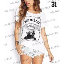 T-shirt Camiseta Blusa Fashion Reggae Bobmarley