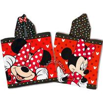 Poncho Toalla C/ Capucha Minnie Mouse Original Disney Piñata