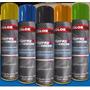 Tinta Spray Roda Preto Fosco Emborrachada Colorgin 400ml