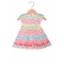 Vestido Miss Turma Da Malha Nuvens Infantil Tam. 1