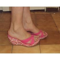 Lindas Zapatillas Wedge Plataforma Color Rosa # 5