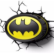 Batman Escudo 3d Deco Light Lámpara De Noche Encendido Touch