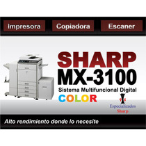 Copiadora A Color Mx3100 Impresora Escaner Usb