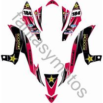 Calcos Kawasaki Kfx 450 Año Rockstar Kit Completo