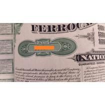Bono - Ferrocarriles Nacionales De México, $100 Oro, 1907