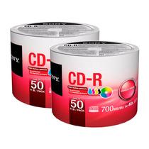 100 Cd-r Sony 700 Mb 48x Imprimibles Full Face 100% Original