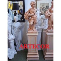 Estatua De Jardin, Cemento Patinado, Estatuas De Parques