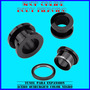 2 Tuneles Expansor Acero Quirurgico Color Negro 12mm A 20mm