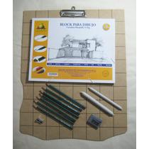 Set Dibujo, Kit Completo Dibujo Lápiz, Con Tabla Profesional