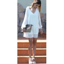Minivestido O Blusón Blanco Elegante Envío Gratis