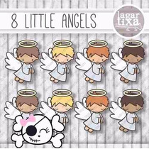 Kit Imprimible Angelitos Bautismo Nene 4 Imagenes Clipart