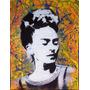 Arte Pintura Original Retrato Frida Khalo Mdf Color