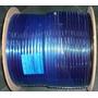Rg6 100mts Cable Coaxil Rg-6 Negro C/portante + 2 Conectores