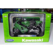 1:18 Kawasaki Ninja Zx-12r 2001 Verde Moto Welly