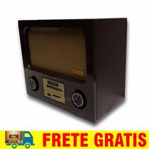 Radio Antigo Frahm 50 Anos Edição Limitada Usb Sd Fm Madeira