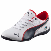 Mujer Tenis Puma Drif Cat 6 Bmw Team Low Blanco Y Azul Marin