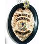 Distintivo Agente Segurança Privada Couro Folheado + Brinde