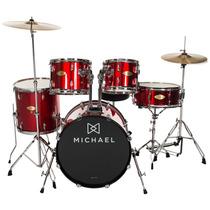 Bateria Acústica Bumbo 18 Pol Audition Dm826rd Michael
