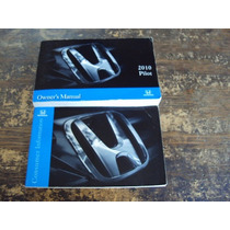 Manual De Propietario Honda Pilot 2010 En Ingles