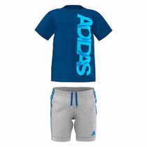 Conjunto Playera Con Short Para Bebe Adidas Ak2619