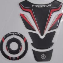 Protetor Tanque 3d Tankpad + Bocal M11 Moto Yamaha Fazer 150