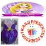 Vestido Infantil Rapunzel Disney Princesas Cosplay Fantasia
