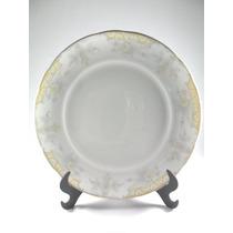 Prato Muito Antigo Porcelana Schmidt Decorado