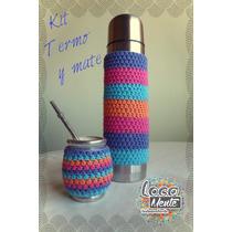 Kit Termo Y Mate Fundas Al Crochet Locamente Indumentaria
