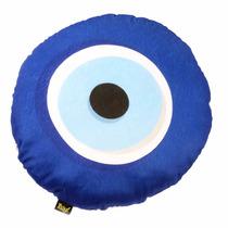 Almofada Da Sorte Olho Grego Pelúcia Super Soft Decoração