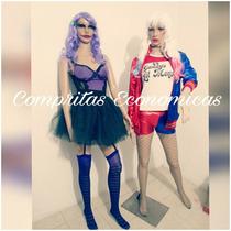 Disfraz Huason Mujer Sexy Hallowen Batman Harley Quinn Envío