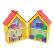 Casinha De Bonecas Mobiliada Mdf Yellow House Junges 412
