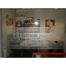 Esmerilado Para Oficina - Ploteo Para Vidrios - Ventanales