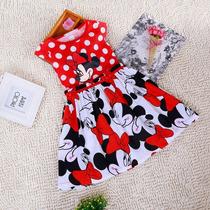 Vestido Minnie Vermelho Infantil - Pronta Entrega!