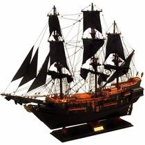Navio Barco Fragata Pirata Caravela Perola Negra 85cm