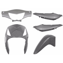 Kit Carenagem Completa Biz125 Prata 2006/07 Modelo Original