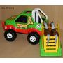 Camioneta 4x4 Trailer Y Dos Caballos Muy Sólido Didáctico