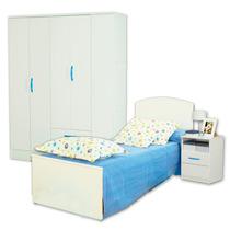 Juego Dormitorio Cama Infantil Fiona + Placard 25 + Mesita