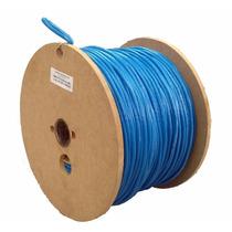 Bobina De Cable Utp Cat 5e 100% Cobre Azul Sin Caja