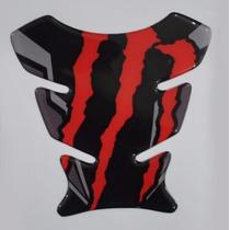 Protetor Tanque Tankpad Monster Vermelho Moto Honda Bros 160