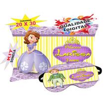 50 Almofadas + 50 Mascaras Personalizadas Princesa Sofia