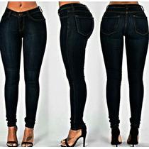 Pantalon Jean Corte Alto Medio Bajo Clasico Dama Levis