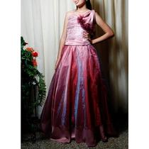 Vestido Exclusivo Color Rosa Para 15 Años O Fiesta De Gala.