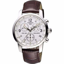 Relógio Tissot Prc200 Couro Marrom Original Completo 12x S/j