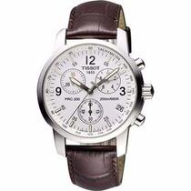 Relógio Tissot Prc200 Couro Marrom Original Completo Promoc