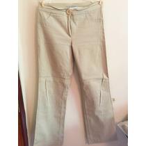Pantalón Corte Recto Beige Talle 3 Equivale 42