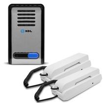 Kit Interfone Porteiro Eletrônico F8-s Com 2 Monofones Hdl