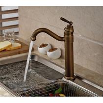 Mezcladora Antigua Monomando Grifo Cocina Baño Bronce