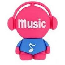 Pen Drive 8gb Personalizado Pendrive Música Music Vermelho
