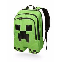 Mochila Minecraft Creeper Original Entrega Inmediata